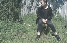 90s Grunge Nana Chic Black Jacket by SiouxsieGerms on Etsy
