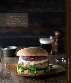 Chicken Burger with Horseradish Sauce | The Spice Train