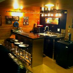 Man cave bar. A possible DIY