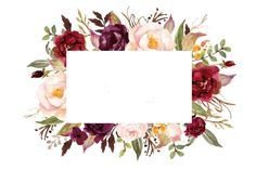 , Color, Flores, Moldura PNG e Vector Motif Floral, Floral Border, Kalender Design, Wedding Invitation Background, Illustration Blume, Watercolor Wedding Invitations, Flower Backgrounds, Flower Frame, Watercolor Flowers