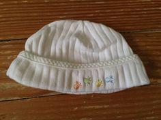 Carter's Child of Mine newborn white paw print hat