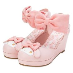New My Melody Adult Pumps Ladies Cute Ribbon L Kawaii Pink Sanrio Japan Anime Pastel Fashion, Kawaii Fashion, Lolita Fashion, Cute Fashion, Fashion Shoes, Dr Shoes, Sock Shoes, Me Too Shoes, Aesthetic Shoes