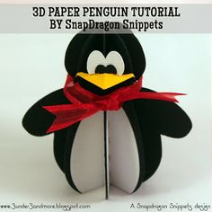 3 under 3 and more: 3D Penguin Assembly Tutorial