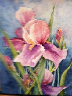 Iris (Watercolor on Canvas)