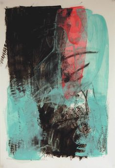 karen l. darling: rustling, oil cold wax and charcoal