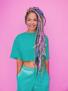 It's impossible to have a bad hair day with multicolor braids as rad as these.