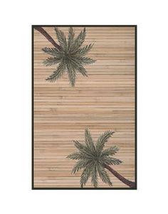 Hand woven Palm tree Bamboo Rug