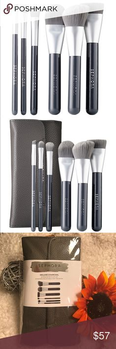 Deluxe Charcoal Antibacterial Brush Set by Sephora Collection #12