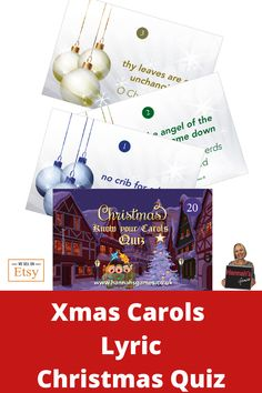 Know Your Carols Christmas Quiz – Music Trivia Fun on Etsy – Best Christmas Eve Christmas Carol Quiz, Christmas Trivia Games, Christmas Games For Family, Xmas Games, Xmas Carols, Christmas Eve Box Fillers, Hen Party Games, Bachelorette Games, Games For Teens