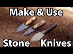 How to Make and Use a Stone Knife - YouTube Survival Knife, Survival Prepping, Survival Stuff, Wilderness Survival, Survival Skills, Flint Knives, Emergency Candles, Flint Knapping, Knives And Swords