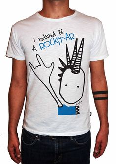 T-Artist Collection - Author T-Shirt - Edoardo Nardin for Double Excess - I WANNA BE A ROCKSTAR #tshirt #tshirts #tee #tees #fashionart #art #artist #edoardonardin