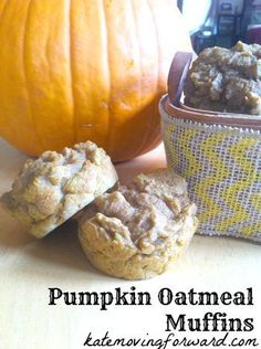 Oatmeal Pumpkin Muffins made with leftover oatmeal. Perfect healthy after school snack!