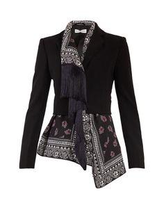 Altuzarra Liberty Notch-lapel Scarf-panel Jacket In Black Blazer Fashion, Hijab Fashion, Boho Fashion, Fashion Dresses, Womens Fashion, Fashion Design, Luxury Fashion, Punk Fashion, Lolita Fashion