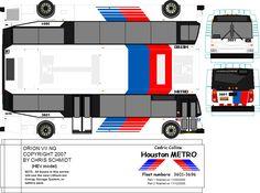 Paper model metro bus by METRObusfan. DIY paper craft