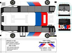 Paper model metro bus by METRObusfan. DIY paper craft