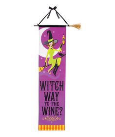 Take a look at this 'Witch Way' Halloween Banner by Amscan on #zulily today!