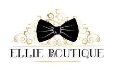 Custom Logo design bow Logo Gold Black logo feminine by HappyLogo