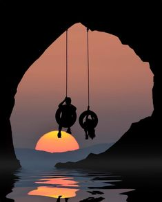 The Globe Wanderer ( Swing Photography, Silhouette Photography, Shadow Silhouette, Silhouette Painting, Instagram Widget, Instagram Posts, Instagram Life, Cool Pictures, Beautiful Pictures
