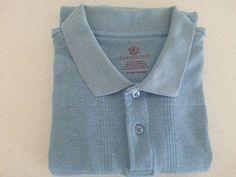 Convicton Men's Polo Shirt XL Short Sleeve Henley Light Blue Plaids & Checks #Convicton #Henley #ebay #Convicton #Henley