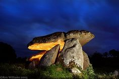 Carlow, Ireland ,  the largest dolman (capped grave) in Europe.  Haroldstown Dolmen - Shadowsandstone.com Photography by Ken Williams