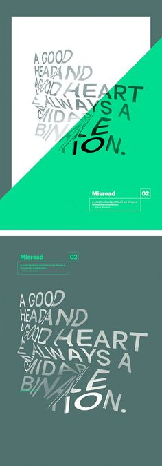 Misread: Typographic Posters by Dimo Trifonov