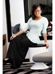 Long Polka Dot Maxi Skirt