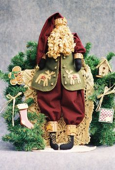 Cloth Doll Pattern  Folk Art Santa epattern by FruitfullHands, $8.00