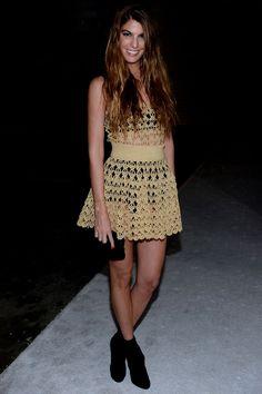 Bianca Brandolini d'Adda en Dolce & Gabbana http://www.vogue.fr/mode/look-du-jour/articles/bianca-brandolini-d-adda-en-dolce-gabbana-1/16978