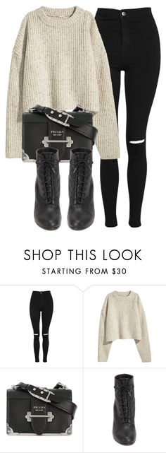 """""""Untitled #7138"""" by laurenmboot ❤ liked on Polyvore featuring Topshop, H&M, Prada and rag & bone"""