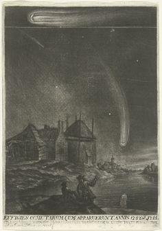 De staartsterren van 1742 en 1744. Rijksmuseum, Public Domain marked. Public Domain, Vintage Prints, The Past, Sketches, Celestial, Painting, Infinite, Van, Study