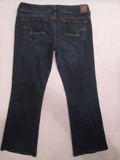 #466-American Eagle Favorite Boyfriend Low Rise Dark Jeans Women's Size 6  #AmericanEagle #Boyfriend