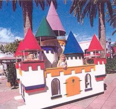 [Merlin's Magic Castle 1993] Builders: Greystone Homes. Mission: The proceeds from the 1993 playhouse auction raised money to build homes for families in Orange County through HomeAid Orange County.