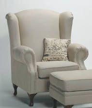 Bella House Juliette Linen Wing Chair