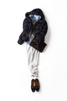 冬でもホワイトデニム 2013-12-14 | jacket brand :  DUVETICA | shoes brand : DIEGO BELLINI