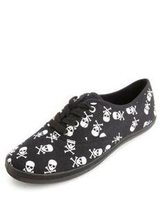 skull print canvas sneakers 2e3862b48e