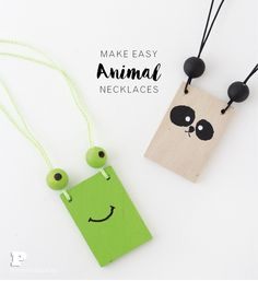 Wear your favorite animal as a necklace - Pysselbolaget - Fun Easy Crafts for Kids and Parents Crafts For Kids To Make, Easy Crafts For Kids, Craft Activities For Kids, Eraser Stamp, Easy Animals, Crafty Kids, Kids And Parenting, Kids Playing, Jewelry Crafts