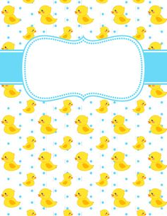 Free printable duck binder cover template. Download the cover in JPG or PDF format at http://bindercovers.net/download/duck-binder-cover/
