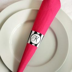 Striped Printable Napkin Rings