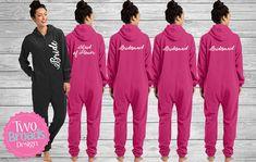 Bridesmaid Footie pajamasSet of 2 Monogrammed Pajamas Bridesmaid Pajama Set Bride Pajamas adult f Bridal Party Pajamas, Pajama Party, Pajama Set, Bridesmaid Pyjamas, Bridesmaid Gifts, Monogrammed Pajamas, Girls Dream, Brides And Bridesmaids, Maid Of Honor