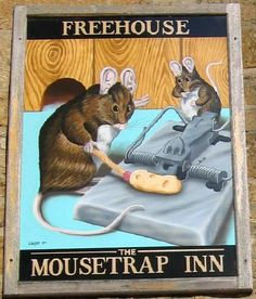 the mousetrap inn, bourton-on-water, gloucestershire, england