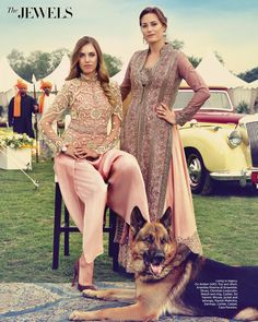 blush pink jacket and dhoti pants by Anamika Khanna and lehenga set by Manish Malhotra in Harpers Bazaar Bride India.