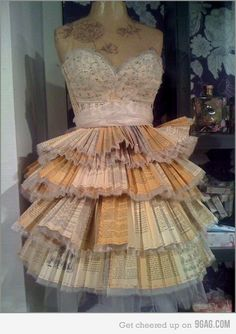 A dress made from Harry Potter books