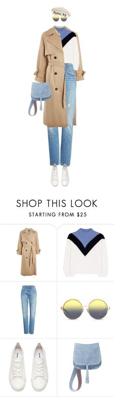 """eva1843"" by evava-c on Polyvore featuring Topshop, Tory Sport, Levi's, Matthew Williamson, H&M, Steve Madden and Cynthia Rowley"