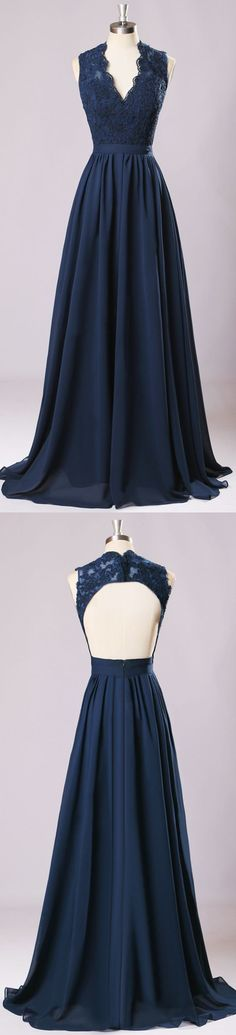 New Long Bridesmaid Dresses Navy Blue Chiffon Wedding Party Gown,off-shoulder Maid of Honor Long Prom Gown,220062 #bridesmaiddresses #bridesmaidsdresses
