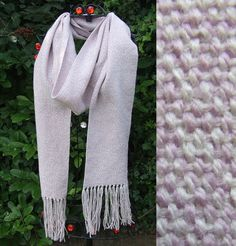 Rose Pink and Old White Handwoven Wool Scarf - Scarves, Wraps & Accessories - The Crafty Cailín