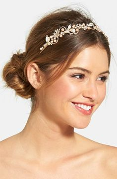 WEDDING+BELLES+NEW+YORK+Bead+&+Crystal+Headband+available+at+#Nordstrom