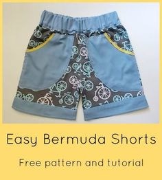 FREE SEWING PATTERN:  Easy Bermuda Shorts