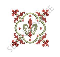FLEUR de lis EMBROIDERY Design Decorative 4x4 5x7 by SewingDivine