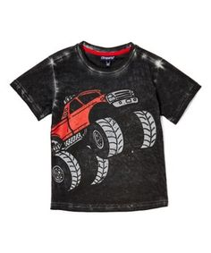 013391a69a Charcoal Distressed Monster Truck Tee - Infant