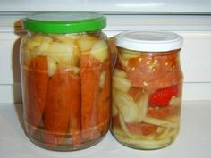 Slovak Recipes, Preserves, Pickles, Cucumber, Mason Jars, Food And Drink, Canning, Drinks, Smoothie